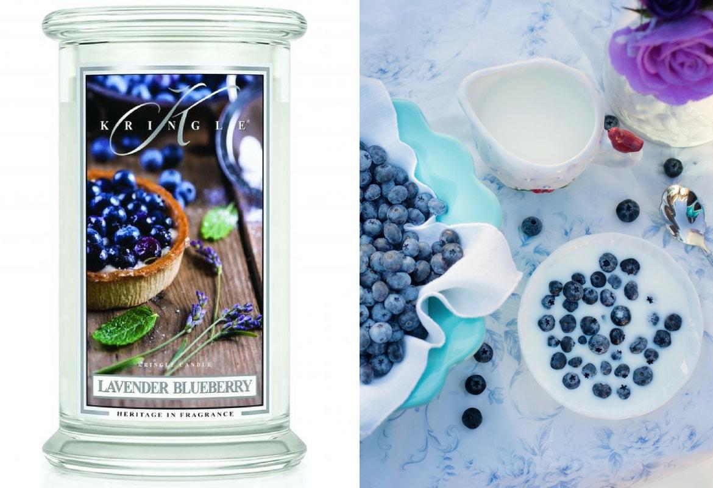 Lavender Blueberry Kringle Candle świeca zapachowa lawenda jagoda Yankee